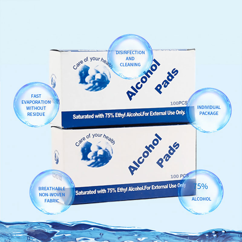 100pcs/Box Portable 75% Alcohol Pads Hand Sanitizer Antibacterial Moisturizing One-time Not Clean Anhydrous Liquid Pads