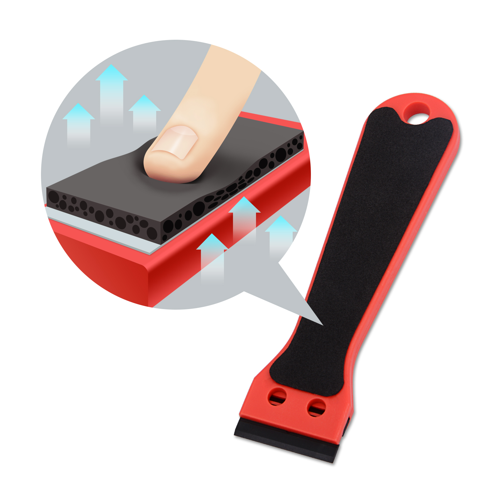 FOSHIO Vinyl Wrap Car Sticker Remover Razor Scraper for Oven Ceramic Window Glass Cleaning Carbon Fiber Wrapping Tool Squeegee(China)