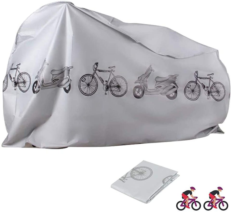 SKTWOE Bike Covers Outdoor Waterproof Bicycle Covers Sun Protection Dust Wind Proof with Lock Hole for Mountain Road Electric Bike,A