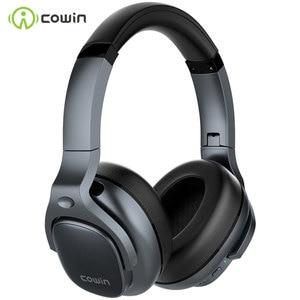 Image 1 - COWIN E9 능동형 소음 차단 헤드폰 Bluetooth 헤드폰 마이크가있는 무선 헤드셋 Aptx HD 사운드