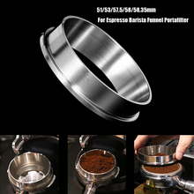 51/53/57.5/58/58.35mm Stainless Steel Intelligent Dosing Ring Brewing Bowl Coffee Powder For Espresso Barista Funnel Portafilter stainless steel 51mm 53mm 58mm coffee powder ring intelligent dosing espresso barista bowl funnel portafilter coffee accessories