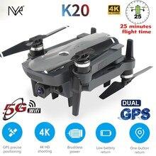 O zangão novo k20 5g wifi 4k hd de nyr 2021 gps câmara grande-angular, zangão de dobramento profissional da quatro-linha central de rc que voa 1.8km para 25min