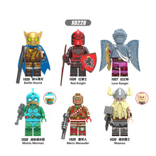 X0228  Building Model Block Bricks Weapon Battle Hound Red Knight Love Ranger Action Figures Collection Toys For Children Gifts недорого