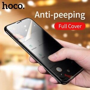 Image 2 - HOCO פרטיות הגנת מסך מגן עבור iPhone 11 פרו X Xs Max XR anti מציץ מגן מלא מזג זכוכית 3D סרט