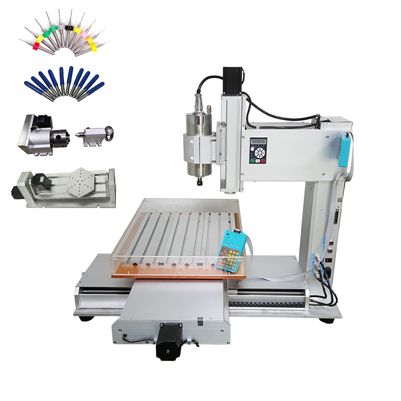 5 Axis Column Type Cnc  6040 1500W Water Cooling Spindle Metal Engraving Drilling Machine With Free Cutters Drilling Bits