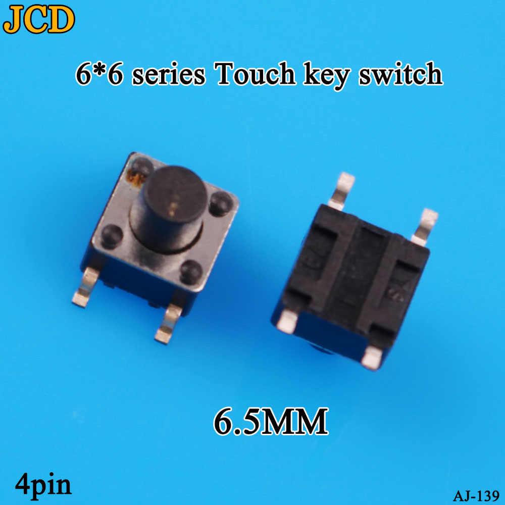 JCD 1PCS SMD Schalter 6*6*4,5mm 6*6*5mm 6,5mm 7mm 6X6 4Pin Tactile Tact Push Button Micro Schalter Selbst-reset Schalter