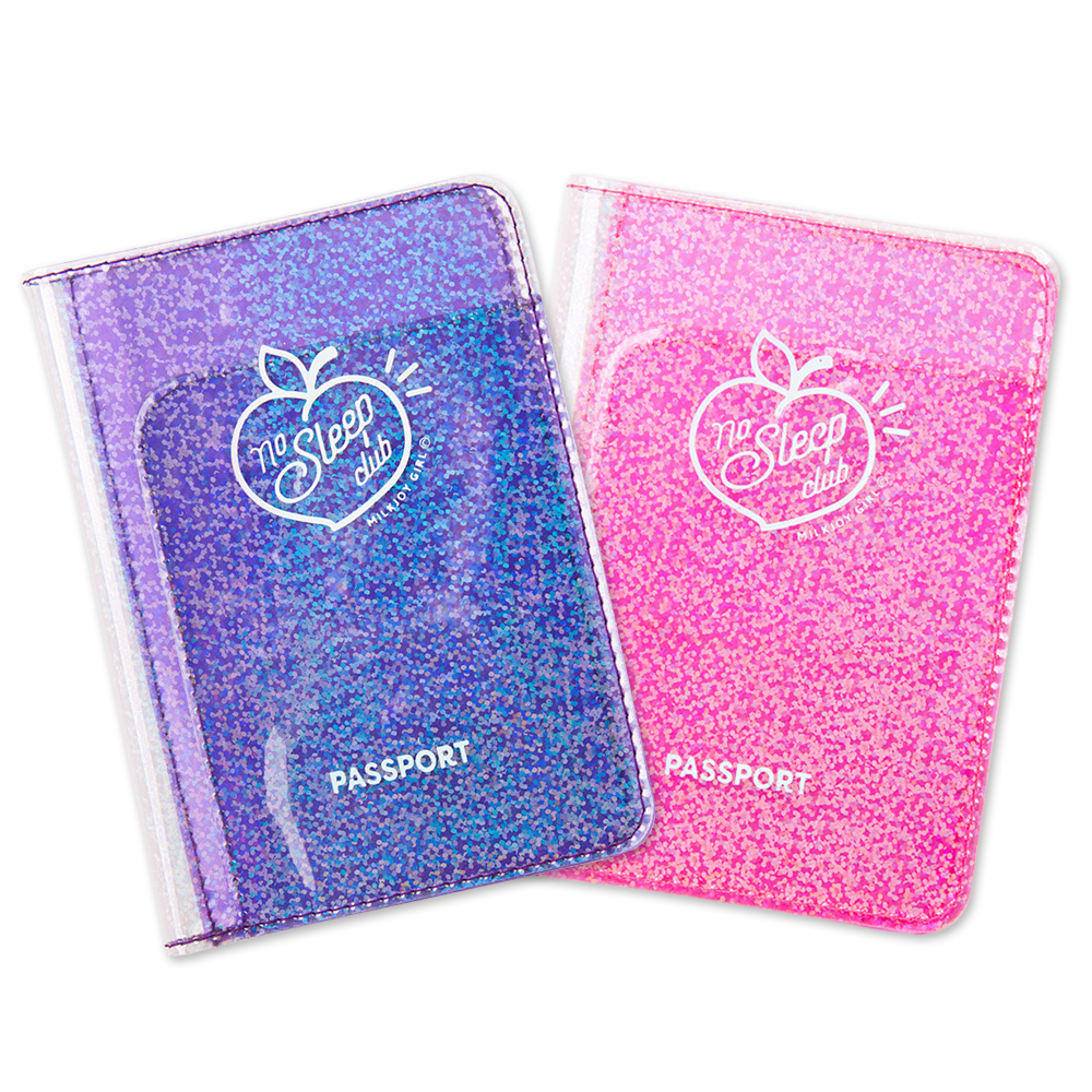 Fashion Transparent Starlight Passport Cover Girls Travel Ticket ID Credit Card Holders PVC Jelly Color Laser Passport Holder