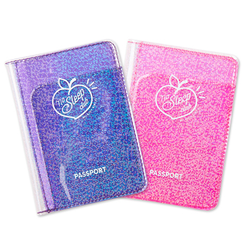 Fashion Transparent Starlight Passport Cover Girls Travel Ticket ID Credit Card Holders PVC Jelly Color Laser Passport Holder