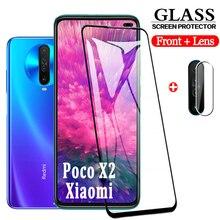 2-in-1 3D Tempered Glass For Xiaomi Poco X2 Poko X2 Screen Protector pocox2 Camera glass Poco x 2 Xiomi poco-x2 Protective Glass клюшка для гольфа new 1 x 2 5 diamana ilima x2 hot