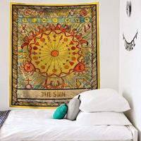 타로 태양 벽 교수형 중세 태양 침실 거실 장식에 대 한 철강 grommets와 레코딩