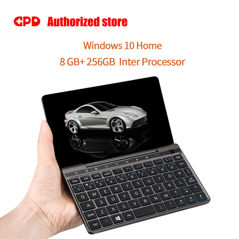 GPD Pocket 2 Pocket2 8GB 256GB 7 Inch Touch Screen Windows 10 System Mini PC Pocket Laptop Notebook CPU Intel Celeron 3965Y