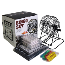 245Pcs Bingo Machine Lottery Party Lucky Ball Game Family Set Cage Card Counter