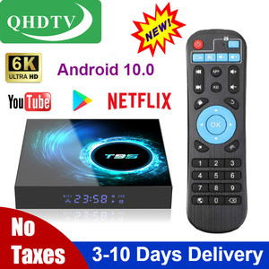 Genuino QHDTV T95 Android 10 6K Quad Core Netflix reproductor de medios Lxtream código 1 año inteligente Android decodificador PK x96 Max Plus