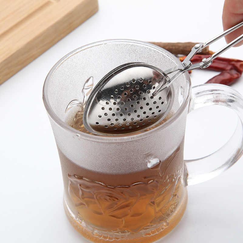 Stainless Steel Teh Infuser Bola Mesh Saringan Teh Kopi Herbal Spice Filter Diffuser Pegangan Teh Bola Filter Teko Gadget