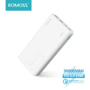 Image 1 - ROMOSS Sense 8+ Power Bank 30000mAh QC PD 3.0 Fast Charging Powerbank 30000 mAh Portable External Battery Charger For Xiaomi Mi