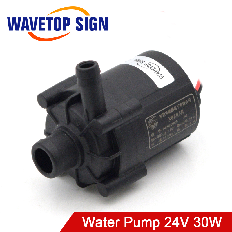 WaveTopSign Water Pump P4504 Voltage 24VDC Power 30W Flow Rate 10L/min for CW3000 CW5200 Water Chiller