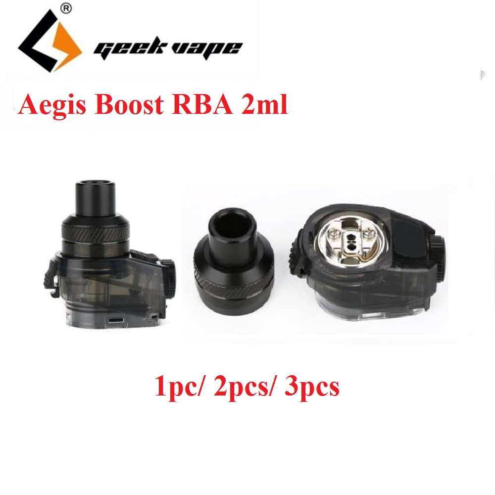 Original Geekvape Aegis Boost RBA Atomizer With 2ml Capacity & New Build Deck E-Cigarette Vape Tank For Geekvape Aegis Boost Kit