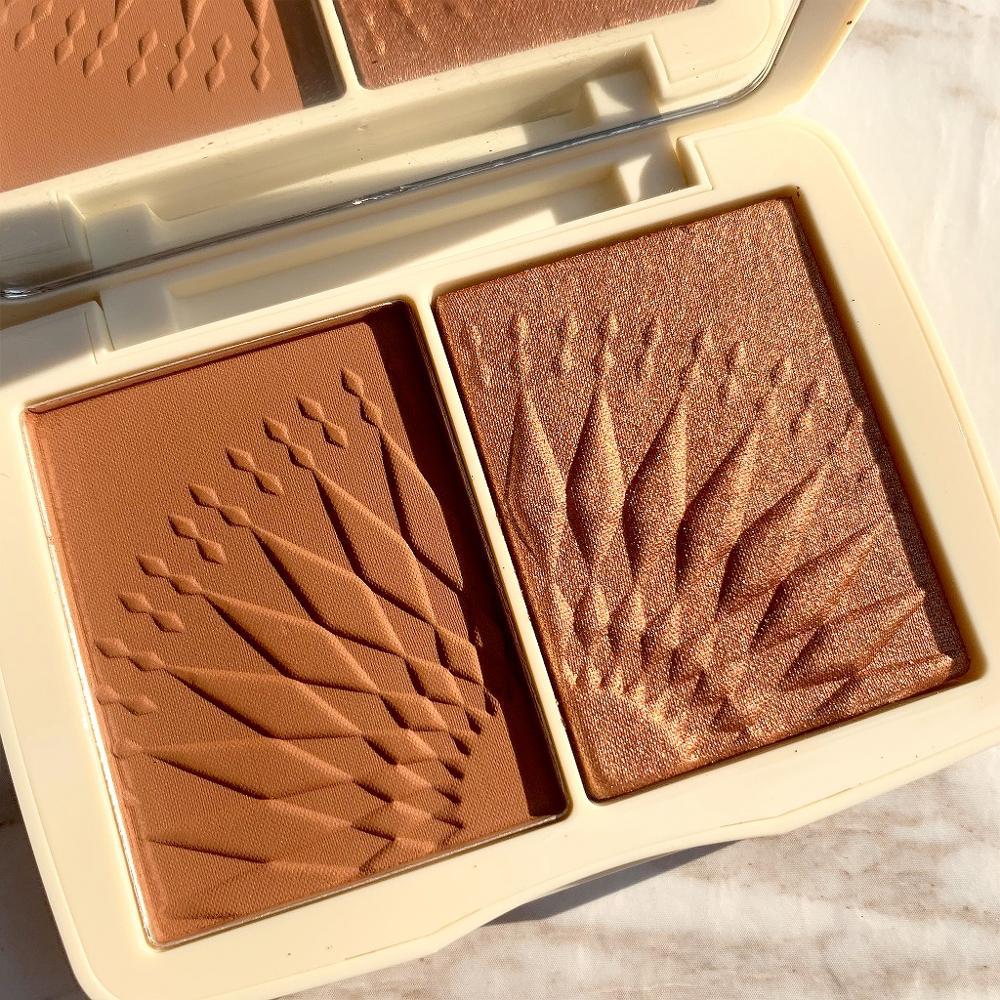 FOCALLURE Face Makeup Bronzer Palette Smooth Pigmented Natural Matte Blush Powder