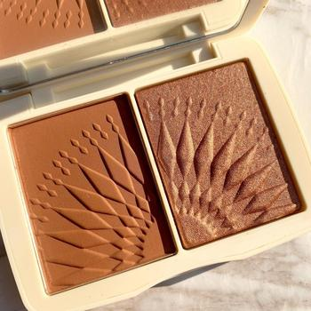 FOCALLURE Face Makeup Bronzer Palette Smooth Pigmented Without Talc Natural Matte Blush Powder