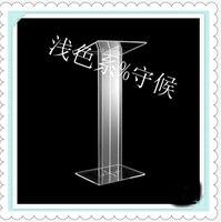 Gorąca sprzedaż/przezroczysty kwadratowy stabilny pulpit Lucite/akrylowy do nauczania multimediów w Biurka do recepcji od Meble na