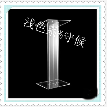 Hot Selling/Clear Square Stable Lucite/Acrylic Lectern For Multimedia Teaching