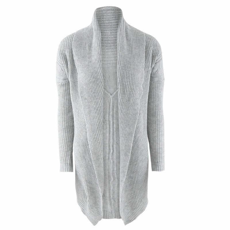 ためのストリートジャカードデザイン蓮の葉の襟バットスリーブソリッドカーディガンコート女性ニットセーター厚手のコート