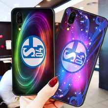 цена на Yinuoda Phone Case For FC Schalke 04 Black Soft TPU Case For Huawei P9 lite P10 Shell DIY Case P8 lite mate10 P30 lite NOVA lite