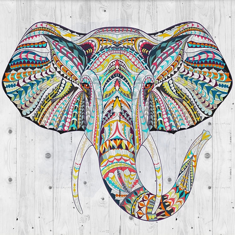 Custom Mural Creative National Style Elephant Nordic Modern Living Room Restaurant Background Wall Art Wall Painting Wallpaper