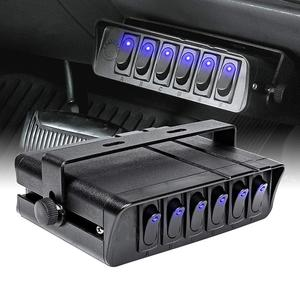 Панель переключателя с 6 кнопками, контроллер коробки для грузовиков, JEEP, внедорожников, лодок, RV, 12 в-24 в, панель переключателя с Светодиодны...