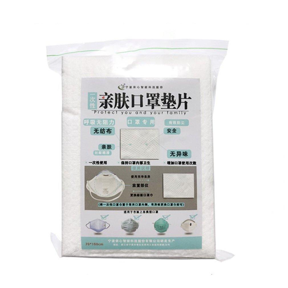 Skin-Friendly Mask Gasket Mask Adaptation Protection Pad Inside The Mask For Longer Life White 100 Pcs/Bag