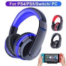 Casque de jeu sans fil Bluetooth, avec Nintendo Switch, PS4, PS5, PC, transmetteur, casque stéréo avec micro, casque de téléphone pour Gamer