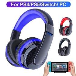 Беспроводные Bluetooth наушники с передатчиком для ПК Nintendo Switch PS4 PS5, игровой стерео шлем с микрофоном, гарнитура для телефона и геймера