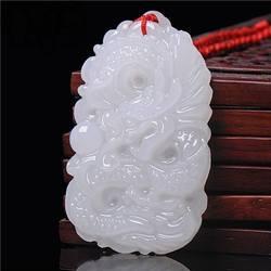 Товары природного качества, афганский белый нефритовый бисер, кулон, длинная игра (Цвет: Белый)