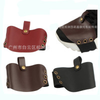 retro coffee leather classic accessorie motorycle shoe pad shift riding vintage brown moto boots cover motorbike shoes protector