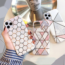 Geometric Marble Phone Case For iPhone 11 Pro Max XS MAX XR X 6 7 8 Plus Triangle Soft Silicone Cover