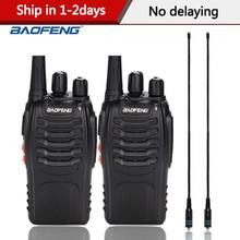 2 Stks/partij Baofeng BF 888S Walkie Talkie Walkie Talkie Bf 888S Uhf 400 470Mhz 16CH Walkie talkie Radio Transceiver Met Oortelefoon