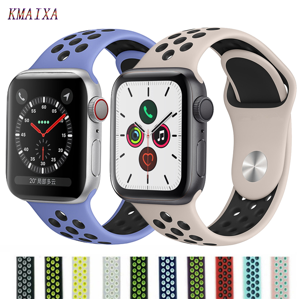 Strap For Apple Watch 5 4 Band Iwatch Series 4 3 2 Correa Apple Watch 42mm 38 Mm 44mm 40mm Silicone Pulseira Bracelet Watchband