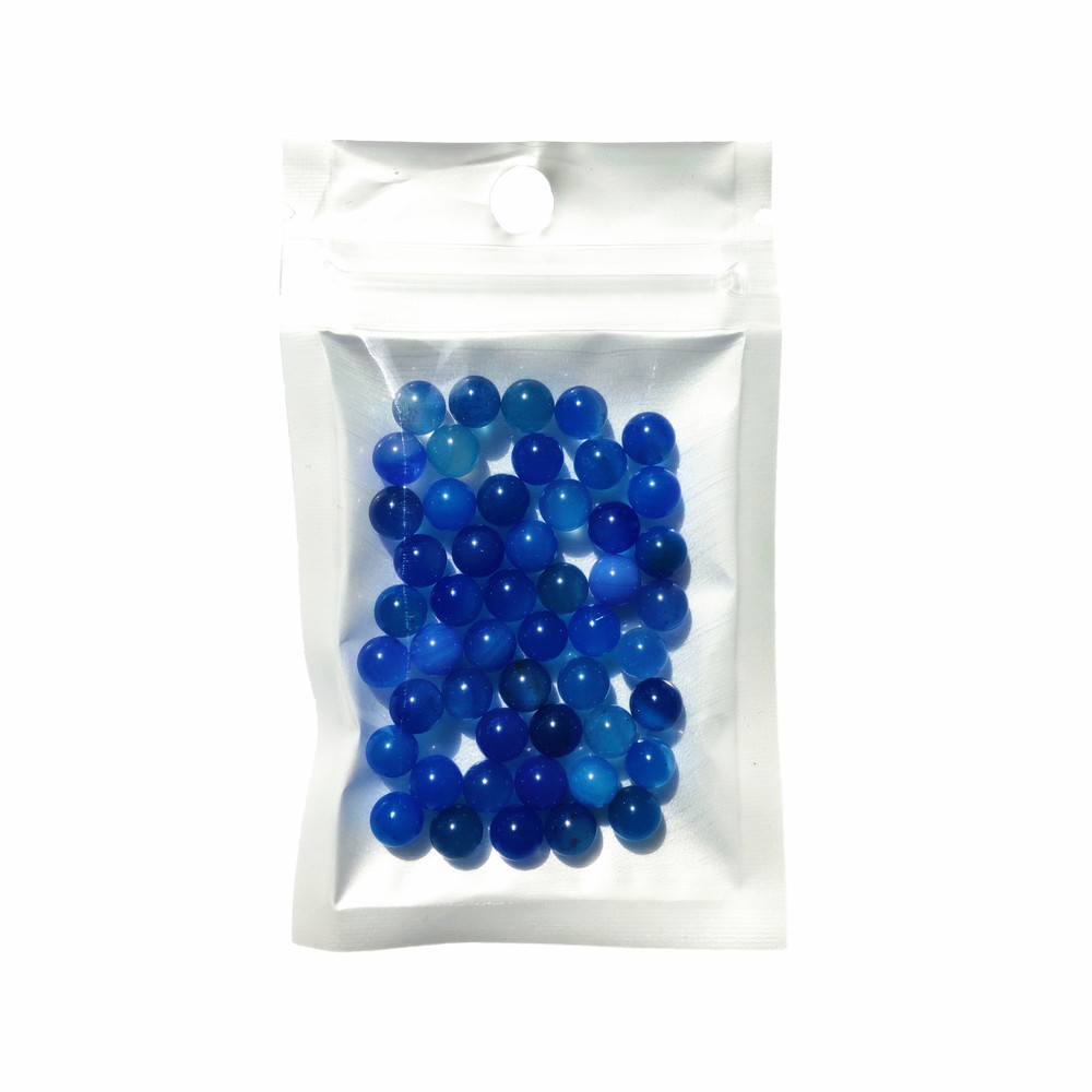 50pcs/Bag OD 6mm Terp Pearls Blue Natural Agate Ball For Quartz Banger Nail Glass Bongs 2