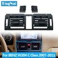 LHD RHD W204 Konsole Frische Klimaanlage AC Vent Grille Set Für Mercedes Benz C Klasse C180 C200 220 230 260 C300 350 2007-2011