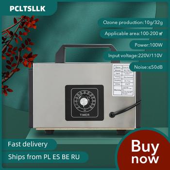 PCLTSLLK Generator ozonu 220V 32g 10g O3 Ozono Generator dezodorant dezynfekcji oczyszczacz powietrza cleaner sterylizacji sprzęt tanie i dobre opinie 50m³ h CN (pochodzenie) 100 w 220 v 10g 32g 41-60 ㎡ Przenośne 99 10 Elektryczne inny ≤50dB 1000000 sztuk m³ 10-20m ³