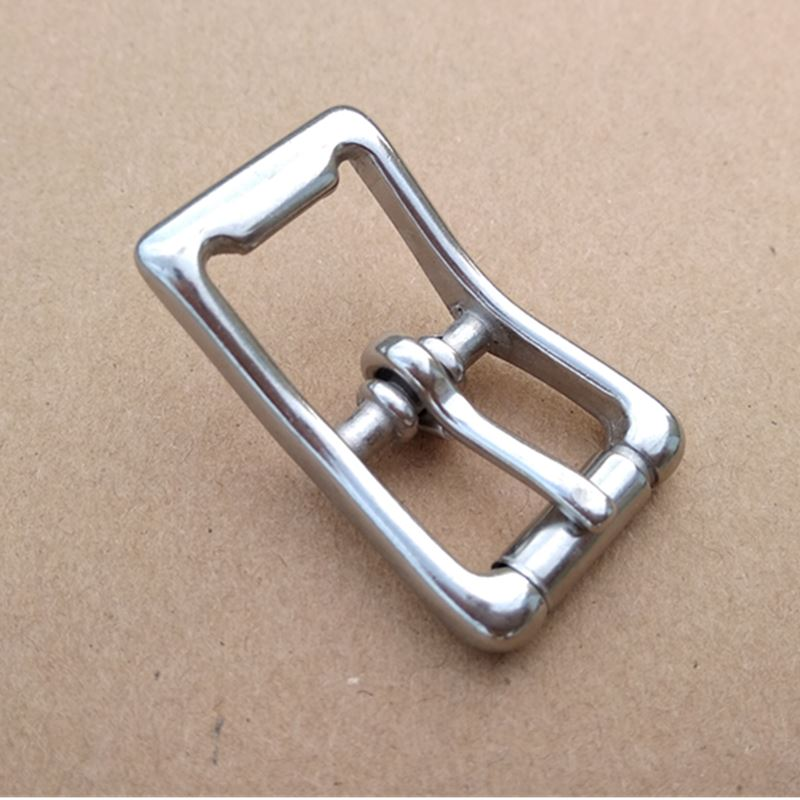 20PCS/Lot Stainless Steel Pin Buckle With Roller  Bridle Buckles  Inside Width 17 Mm Buckle For Shoes  Leather Craft Buckle W036