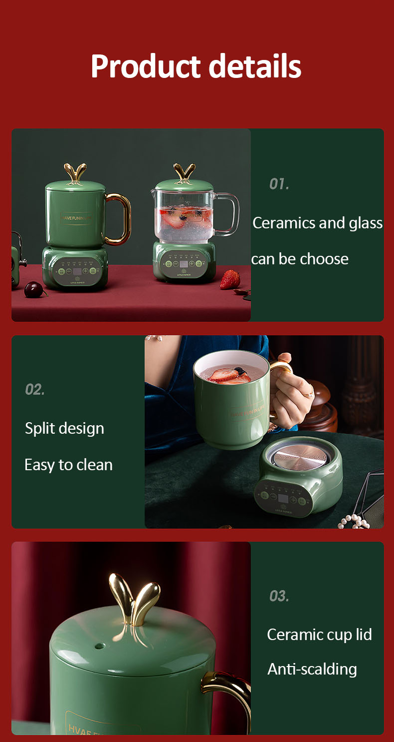cerâmica copo de guisado elétrico vidro fogão