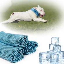Summer Pet Instant Ice Cooling Dog Bandana Scarf For Small Dogs Bulldog Polyester Sunstroke Neck Wrap Collar