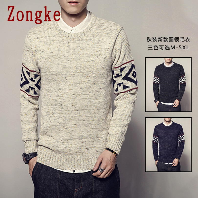 Zongke Casual Winter Sweater Men Coat Pullover Men Sweater Winter Mens Sweaters For 2019 Autumn New Man Pull Clothes 5XL
