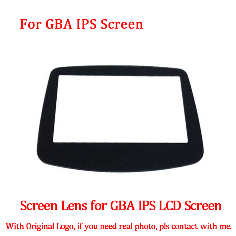 LCD Screen Glass Lens Replacement For GBA Backlight IPS LCD Screen With 10 Levels High Light Brightness For GBA Console Screen