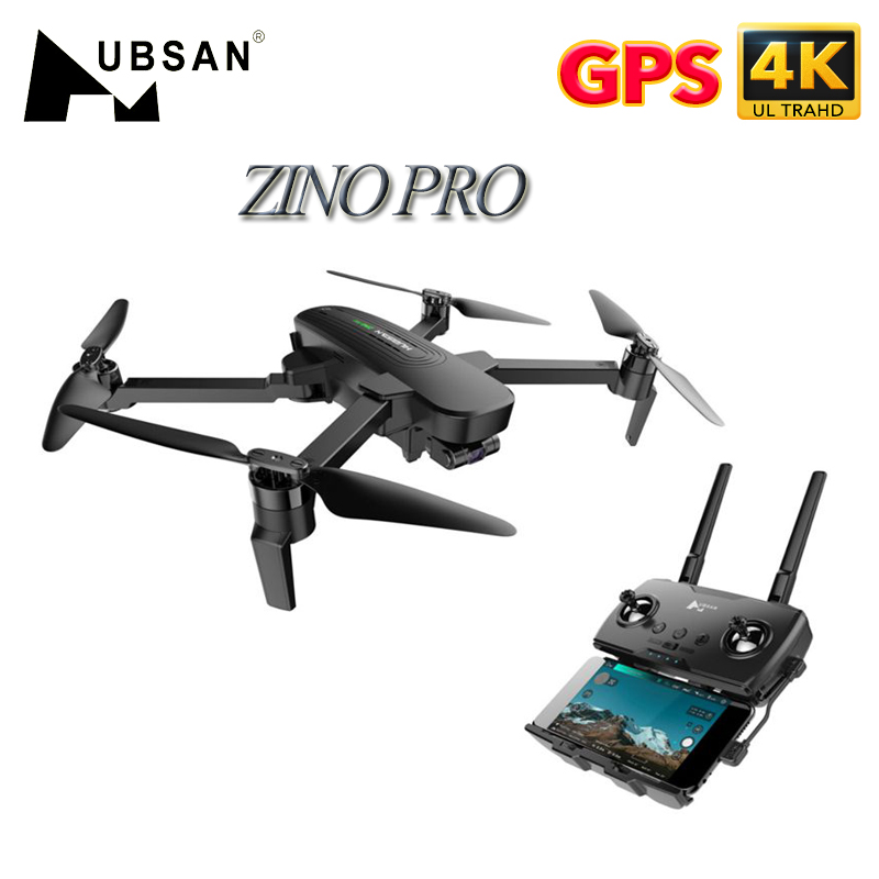 Closeout DealsHubsan Quadcopter Gimbal Camera Sphere Rc Drone FPV UHD Wifi 3-Axis Zino Pro GPS 4KM