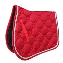 Мягкий амортизирующий поддерживающий подседельный коврик для всех целей из смесового хлопка для прыжков, событий, верховой езды, спортивное покрытие для конного спорта