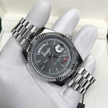 Reloj de lujo con esfera gris y números romanos U1, calidad AAA, cristal de zafiro de 40mm, con barrido automático