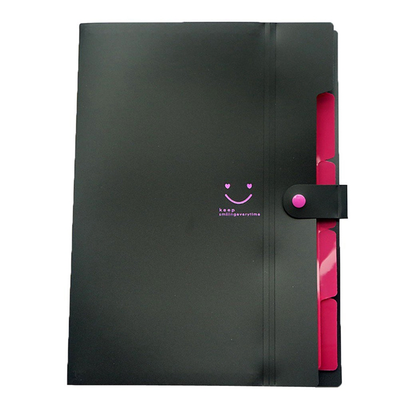 A4 Paper Expanding File Folder Pockets Accordion Document Organizer ,Black