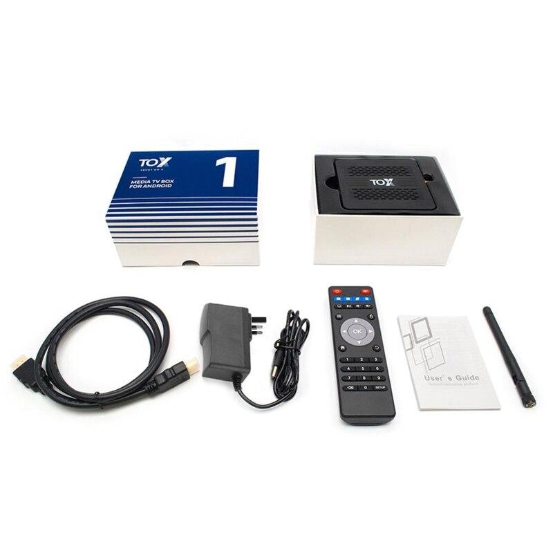 ТВ приставка TOX1, Android 9,0, 4 + 32 ГБ, Wi Fi, четырехъядерный|ТВ-приставки и медиаплееры| | АлиЭкспресс
